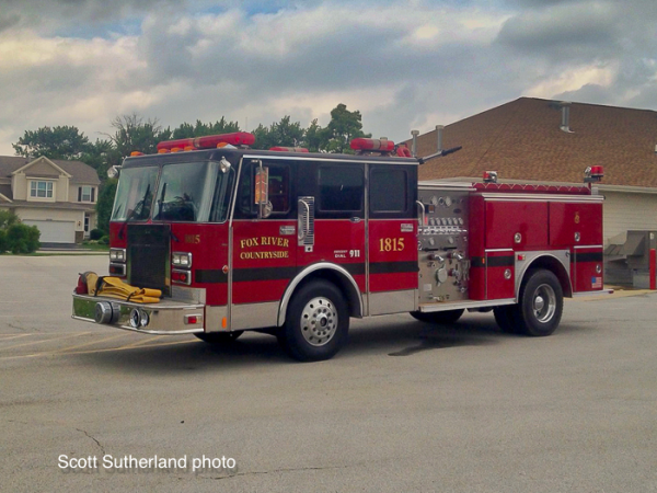 Fox River & Countryside Fire/Rescue District Engine 1815.