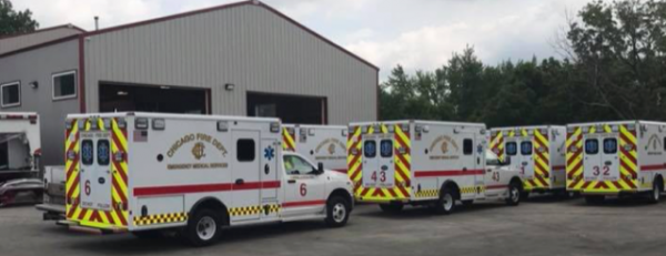 New Chicago Fire Department ambulances