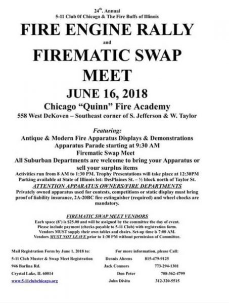 Annual Chicago Fire Engine Rally & Swap Meet