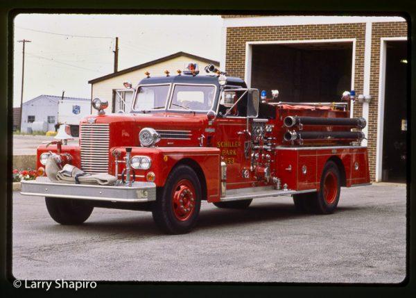 Schiller Park FD history conventional Pirsch Engine 453