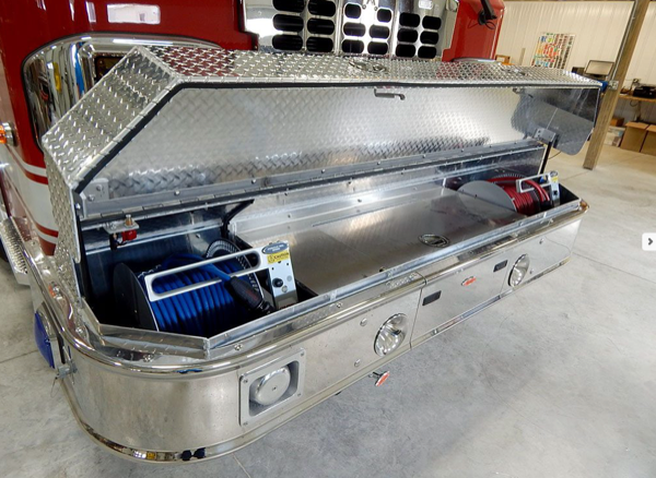 fire engine front bumper storage