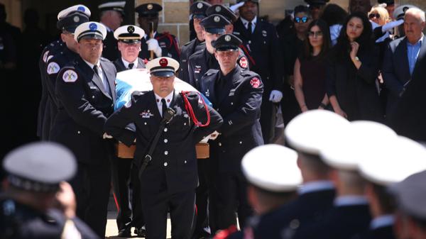 CFD FF/EMT Juan Bucio's funeral