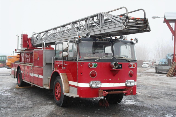 former Chicago Seagrave aerial ladder for sale