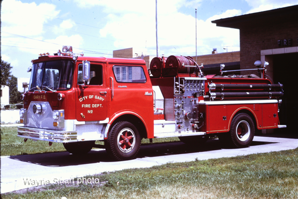 1973 Mack (CF685F10) pumper, serial# 1591