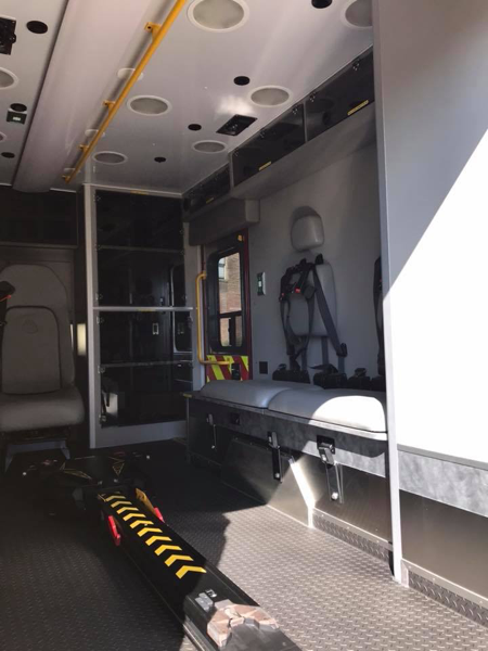 inside of new ambulance