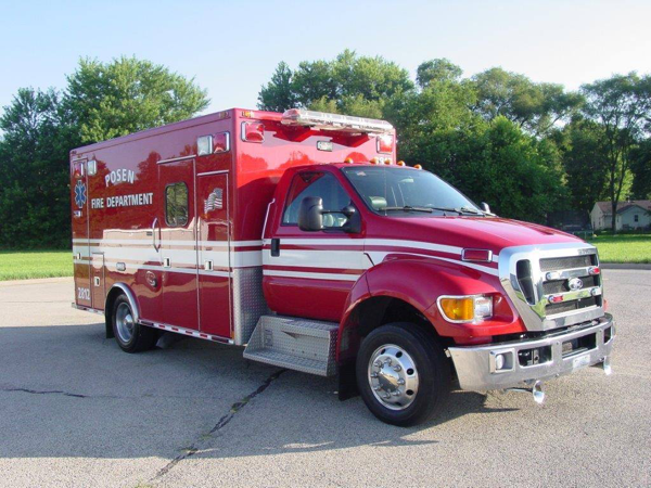 Posen Fire Department ambulance