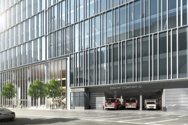 fire station proposed within new high-rise