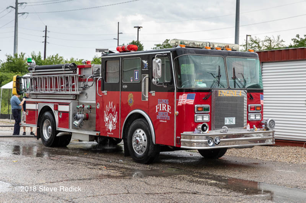 Fire engine at the Illinois Fire Service Institute training cente