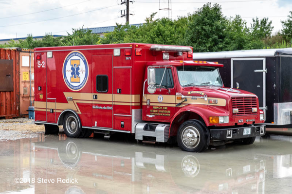 Ambulance at the Illinois Fire Service Institute training cente