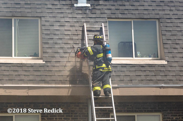 Firefighter vents mansard roof