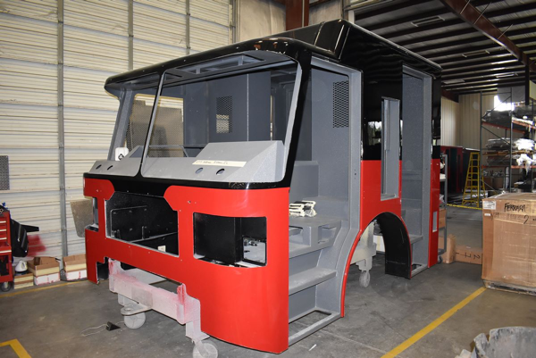 Ferrara fire truck being built H-6393