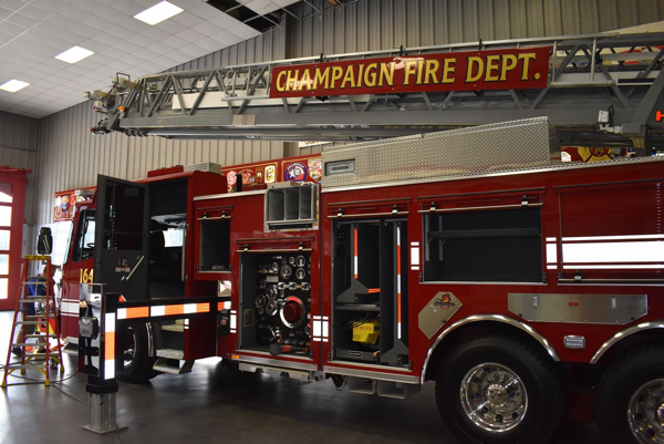 new Ferrara fire truck for the Champaign Fire Department
