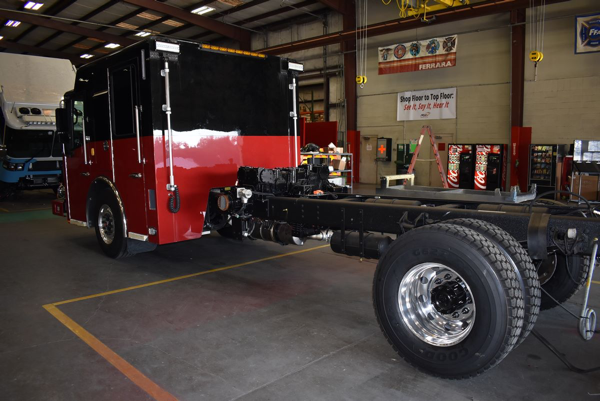 Ferrara Igniter fire engine being built