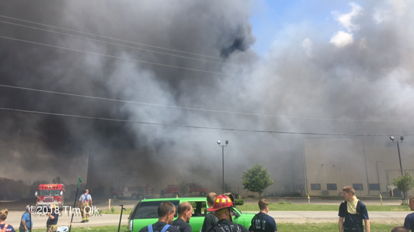 massive fire at recycling plant
