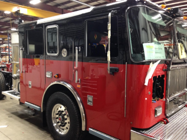 Seagrave fire engine being built