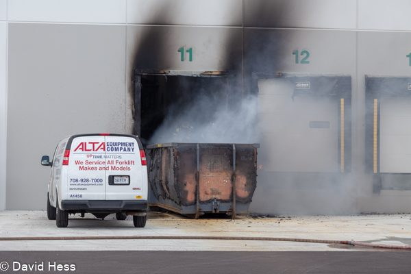 dumpster fire in Bolingbrook