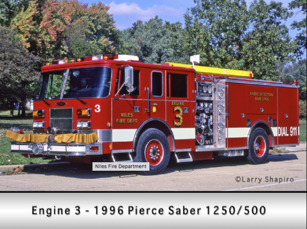 1996 Pierce Saber fire engine