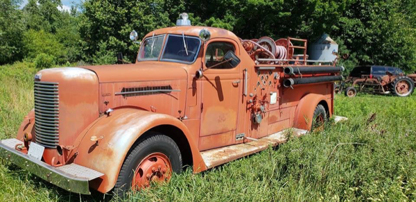 antique Peter Pirsch fire engine formerly owned by the La Grange FD in Illinois