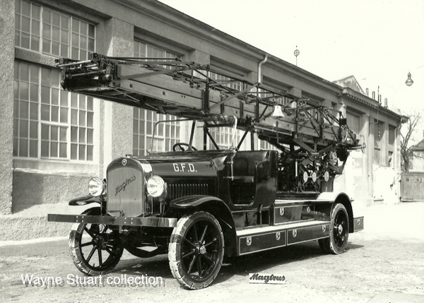 1927 Magirus 85' aerial ladder.