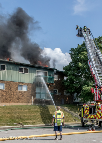heavy smoke rom apartment building fire
