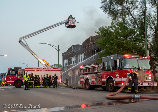 ChicAgo FD Engine 75 and Squad 5A