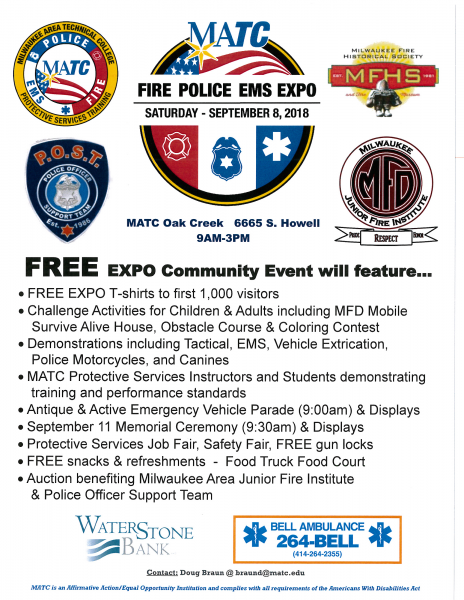 2018 Milwaukee Area Fire and Police Expo