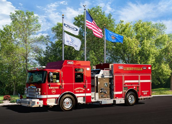 New fire engine for the Libertyville Fire Department