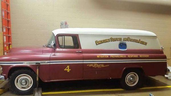 Batavia FD history - 1955½ Chevrolet panel truck