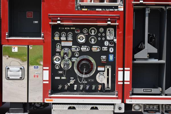 fire truck pump panel