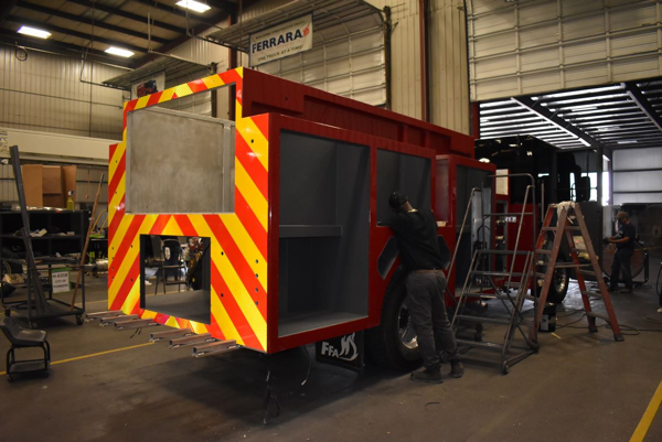 Ferrara fire engine so H6331 being built