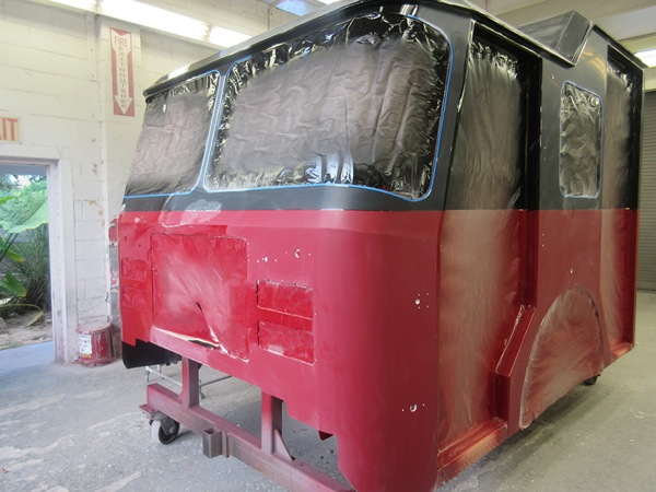 E-ONE fire engine being built