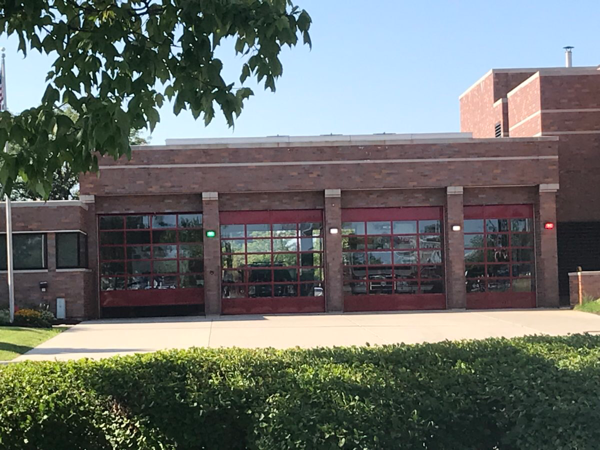 Elk Grove Village Fire Station 7 with new doors