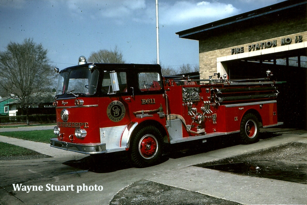 1961 Seagrave KB model pumper Seagrave Serial #M-6595
