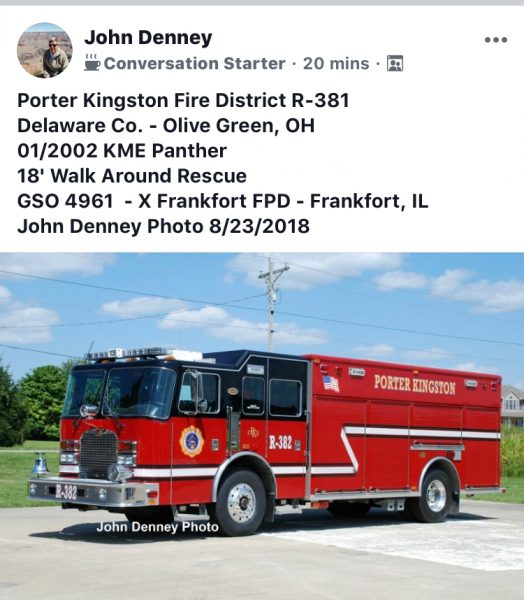 Porter Kingston Fire District Rescue 381