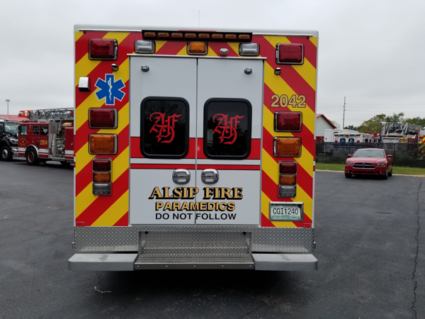 new 2018 Road Rescue Type III ambulance for the Alsip Fire Department