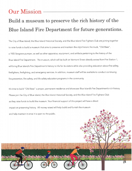 Blue Island Fire Museum Request for donations