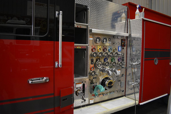 Ferrara fire engine being built