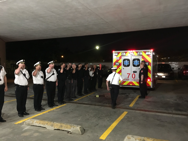 Firefighters honor one of their own