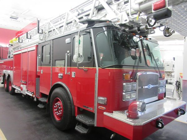 E-ONE tower ladder so 142015 built for CHicago