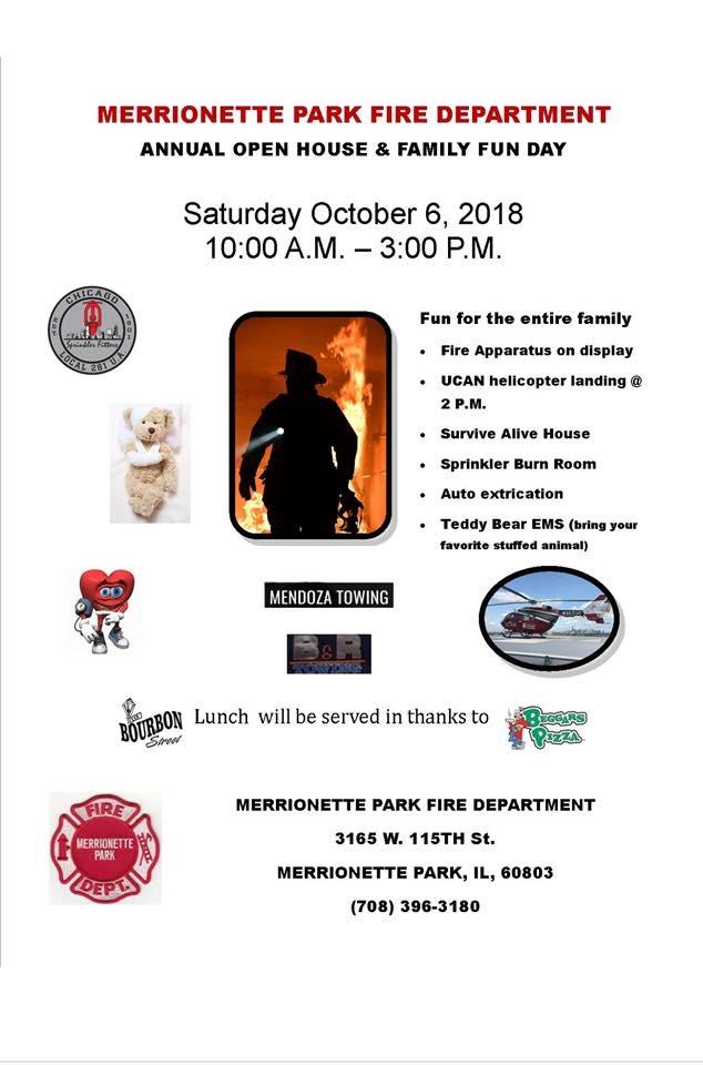 Merrionette Park Fire Department 2018 open house
