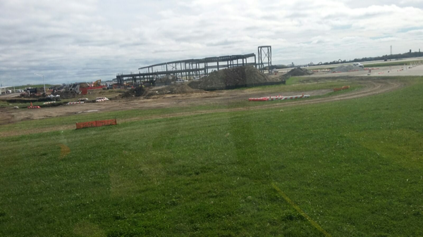 fire station under construction at O'Hare Airport