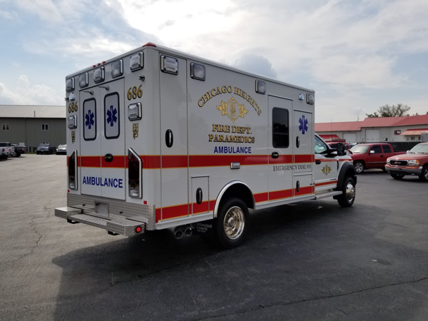 new Chicago Heights FD ambulance