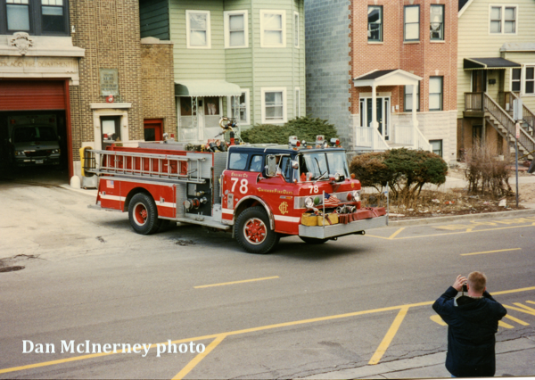 Chicago FD engine 78 circa 1974