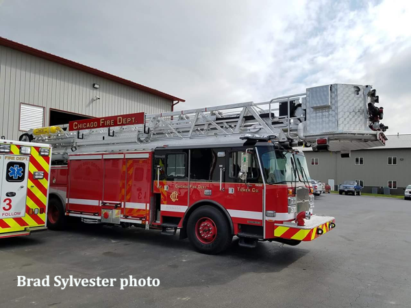 new tower ladder for the Chicago FD