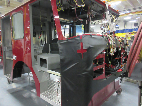 E-ONE fire engine being built so 142121