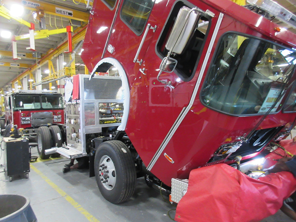 Fire engine being built by E-ONE so#142121