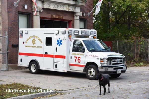 Chicago FD Ambulance 76 FDC266