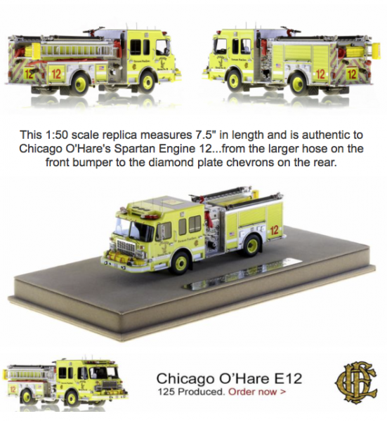 Chicago FD Engine 12 replica model