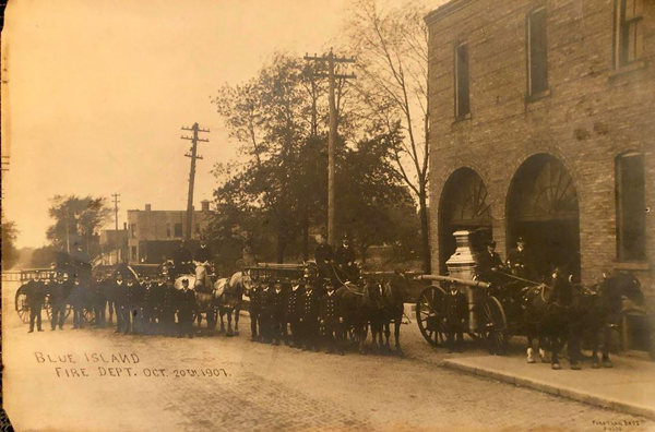 Blue Island Fire Department circa 1907