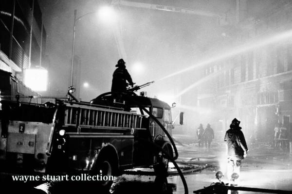 Vintage fire scene in Gary, IN